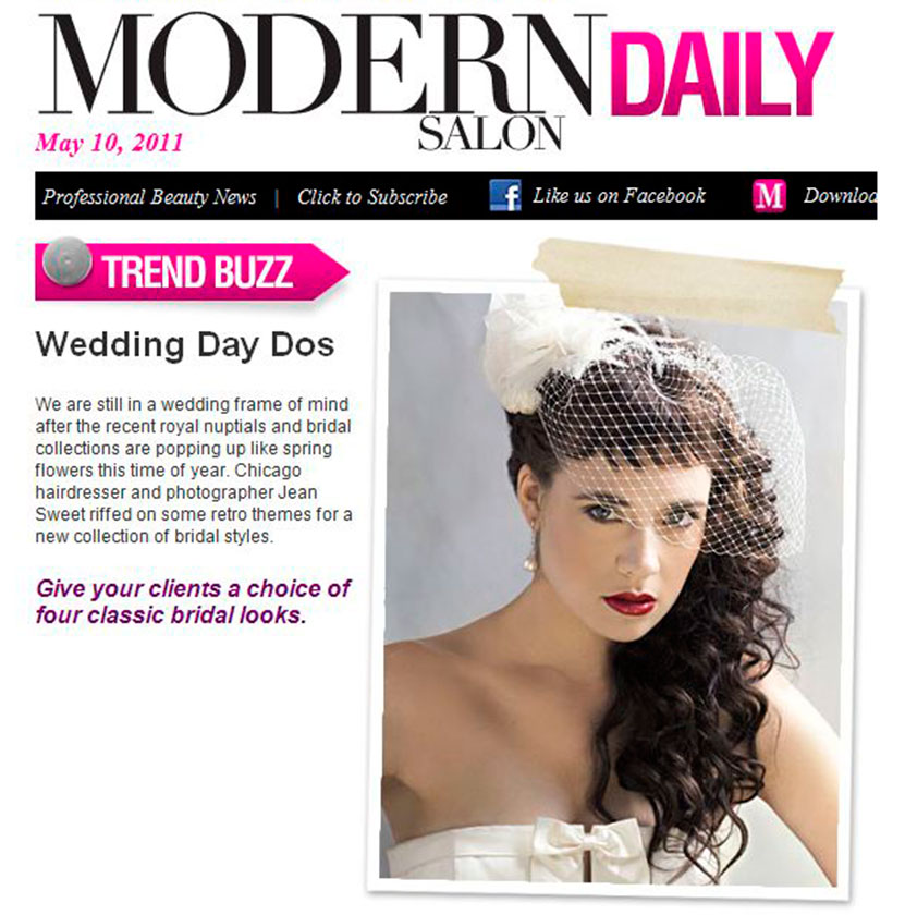 """Wedding Day Dos"" – Published in Modern Salon"